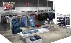 Торговое оборудование для магазинов одежды коллекция МИНИМАЛИЗМ