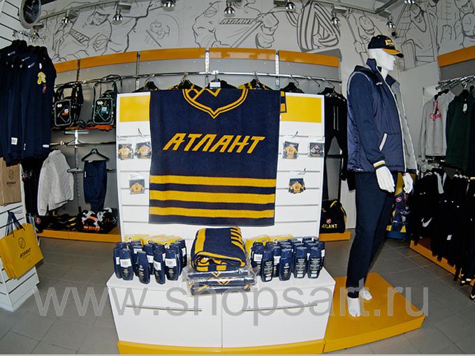 Фото клубного магазина хоккейного клуба Атлант АТЛАНТА