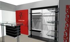 Торговое оборудование для магазинов одежды коллекция ЧЁРНО БЕЛАЯ КЛАССИКА