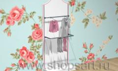 Торговое оборудование стеллаж для одежды Премиум