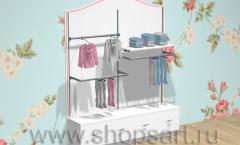 Стеллаж для детской одежды двойная навеска ПРЕМИУМ