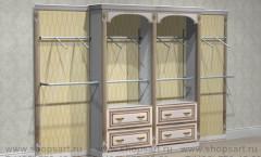 Торговое мебель стеллажи пристенные Элит Голд