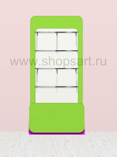 Торговая мебель стеллаж для одежды с навеской Акварели