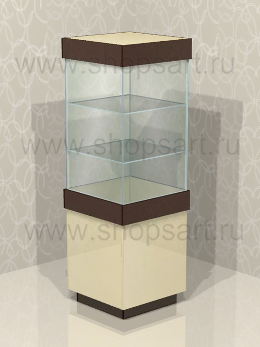 Витрина островная стеклянная 2050х680х680мм.
