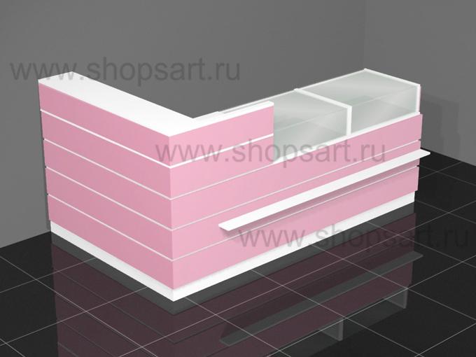 Кассовый узел с прилавками для выкладки товара 2500х1600х1200мм.
