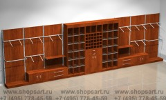 Торговая мебель для магазинов мужской одежды коллекции МУЖСКОЙ СТИЛЬ