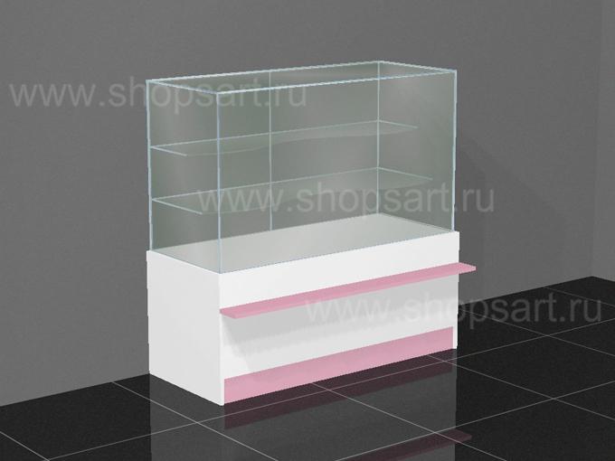 Прилавок торговый стеклянный1200х1170х600мм. 1200х1170х600 мм.
