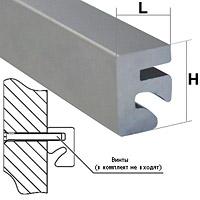 Алюминиевый профиль с пазом / SQ 1001Длина: 3000 ммL: 14,5 ммH: 20 мм