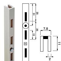 Стойка перфорированная / Channel N-11Глубина: 11 ммКол-во в упаковке (в розницу продается поштучно): 10 шт.Высота, мм / цвет: 1890 / хром 1890 / сатин 2400 / хром 2400 / сатин