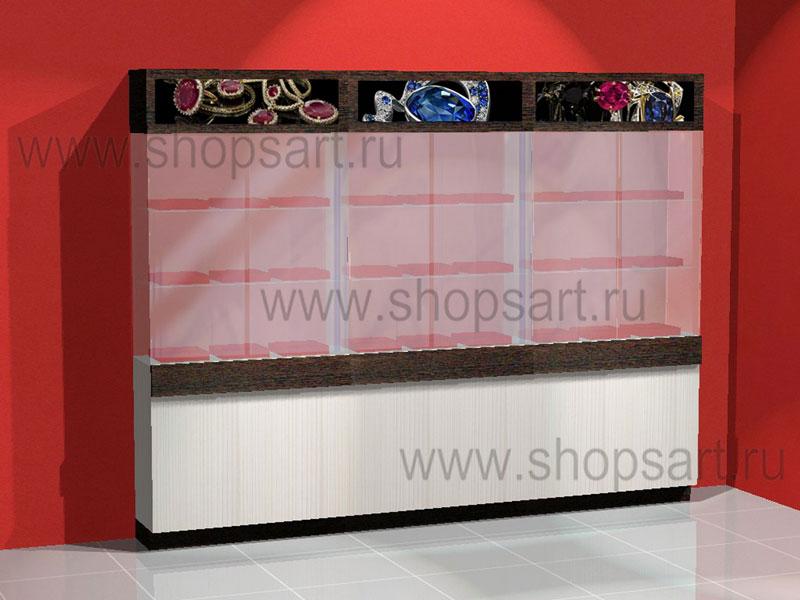 Шкаф стеклянный для ювелирных изделий
