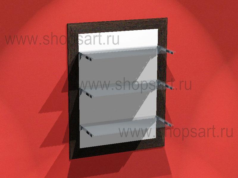 Панель настенная с полками (стекло) в раме