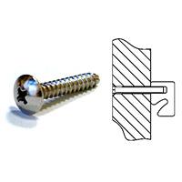 Винт для крепления профиля /Артикул/Длина, мм: LIN.033.00/22Примечание: для исп-я с подложкой толщиной от 14,5 до 17 ммLIN.034.00/25Примечание: для исп-я с подложкой толщиной от 16,5 до 19 мм