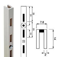 Стойка перфорированная / Channel N-14Глубина: 14 ммКол-во в упаковке (в розницу продается поштучно): 10 шт.Высота, мм / цвет: 1890 / хром2400 / хром2400 / сатин
