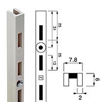 Стойка перфорированная / Channel N-6Глубина: 6 ммЦвет: хромПримечание: только для N-61 и N-62 Кол-во в упаковке (в розницу продается поштучно): 10 шт. Высота: 1890 мм. Высота: 2400 мм.