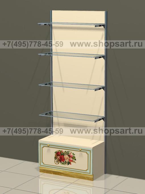 Торговая мебель стеллаж пристенный с полками Винтаж