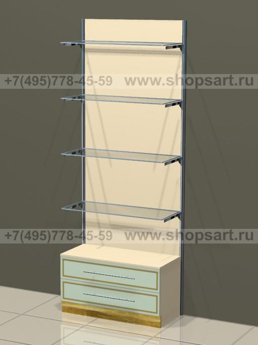 Торговое оборудование для детских магазинов стеллаж пристенный Винтаж