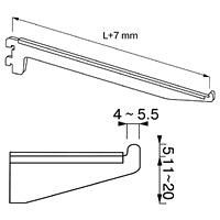 Кронштейн для полок / NX-12Кол-во в упаковке (в розницу продается поштучно): 10 шт.Высота, мм / цвет: 150 / хром200 / хром200 / сатин300 / хром300 / сатин300 / хром