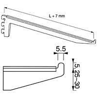 Кронштейн для полок / NX-13Кол-во в упаковке (в розницу продается поштучно): 10 шт. Глубина, мм/ цвет: 300 мм / хром 400 мм / хром 400 мм / сатин