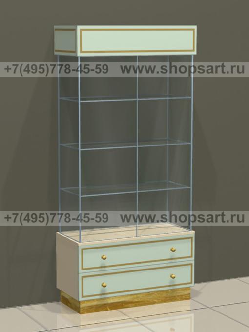 Витрина с двумя выдвижными ящиками Винтаж