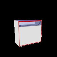 Прилавок остекленный Прилавок остекленный из ЛДСП, стекла и частично из аллюминиевого профиля, регулируемые опоры, дверцы, внутри полка. Возможные размеры (мм): Длина/Глубина/Высота 700/400/900 800/500/- 900/600/- 1000/-/