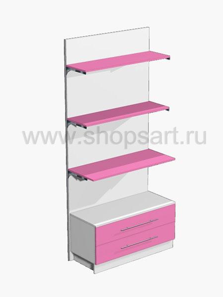 Стеллаж с ящиками 2 Розовая фантазия