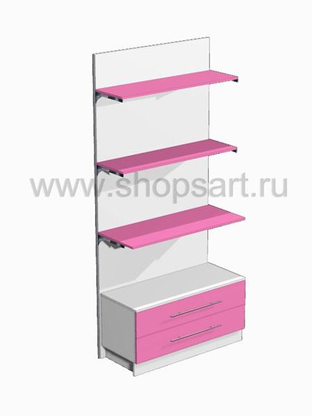 Стеллаж с ящиками 3 Розовая фантазия
