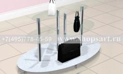 Стол торговый стеклянный овальный торговое оборудование ЛАСКАНА