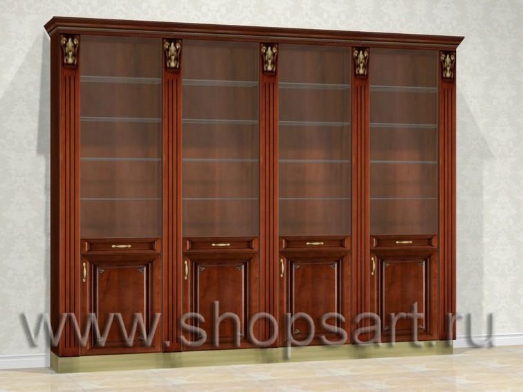 Шкафы стеклянные, закрытые, для подарочной продукции и ювелирных украшений.