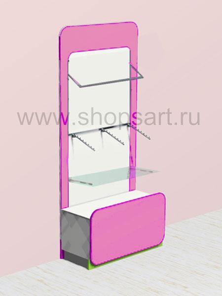 Торговое оборудование стеллаж для одежды накопитель Акварели