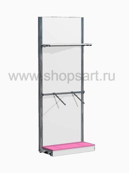 Торговая мебель стеллаж с навеской Розовая фантазия