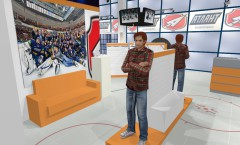Визуализация клубного магазина хоккейного клуба Атлант АТЛАНТА