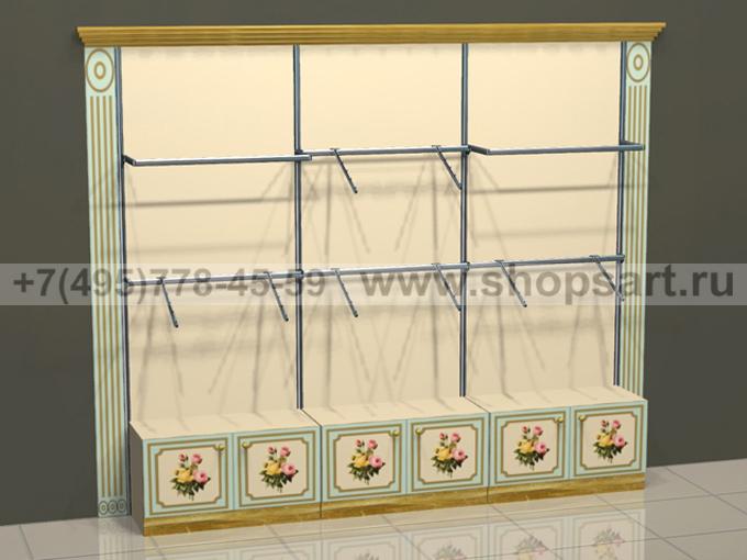Торговое оборудование для детских магазинов стеллажи пристенные Винтаж