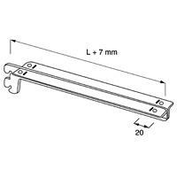 Кронштейн для полок / NX-422Цвет: хром Кол-во в упаковке (в розницу продается поштучно): 5 шт.Глубина,мм:250350