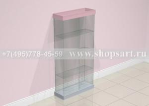 Витрина стеклянная 2000х1000х350мм.На подиуме. Стеклянная витрина используется для выкладки бижутерии, аксессуаров. Стекло 6-8мм., дверки распашные на замке.                                                                                 Цена от 12000,00 рублей