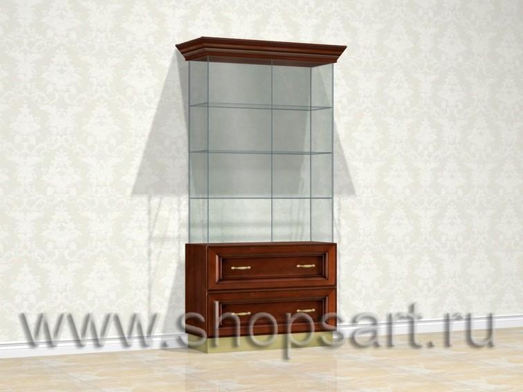 Витрина стеклянная для ювелирных украшений.