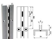 Стойка перфорированная / Channel NSI-1 - SALE!Глубина: 27,5 ммЦвет: серебряный металлик Высота, мм:18002400