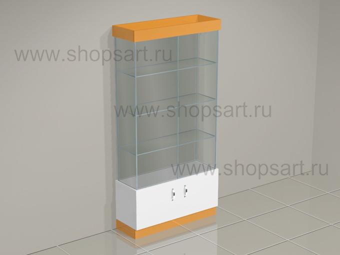 Витрина стеклянная с накопителем торговое оборудование АТЛАНТА
