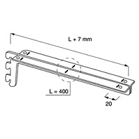 Кронштейн для полок / NX-423Глубина: 400 ммЦвет: хром Кол-во в упаковке (в розницу продается поштучно): 5 шт.