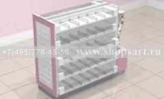 Островная стойка для продажи колготок торговое оборудование ЛАСКАНА
