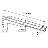 Кронштейн для полок усиленный / NX-424Цвет: хром Кол-во в упаковке (в розницу продается поштучно): 5 шт.Глубина, мм:450550