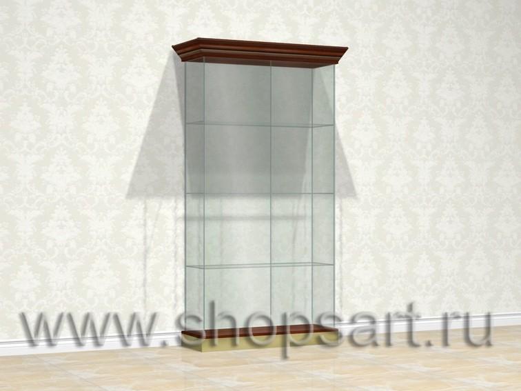 Витрина на подиуме, стеклянная, для ювелирных украшений.