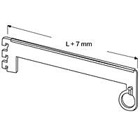 Полкодержатель с держателем трубы d-25 проходной / NX-533 - SALE!Глубина: 300 мм Цвет: серебряный металлик