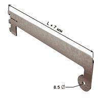 Полкодержатель с держателем трубы d-25 концевой / NX-543Глубина: 300 ммКол-во в упаковке (в розницу продается поштучно): 10 шт.Цвет:хром/ сатин
