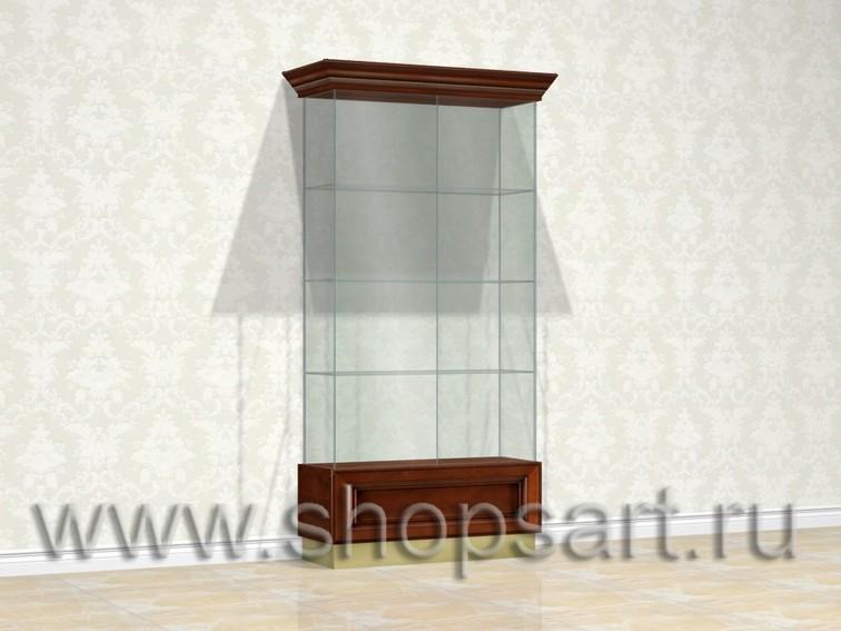 Витрина ювелирная, стеклянная, для ювелирных украшений.