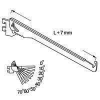 Полкодержатель наклоняемый/NX-812Цвет: хром Глубина, мм:250/ 300