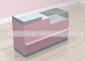 Кассовый стол с торговым прилавком