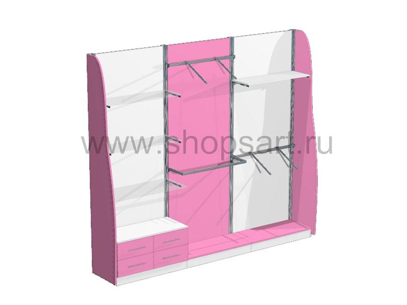 Стеллажи с выдвижными ящиками Розовая фантазия