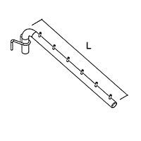 Держатель наклонный 6 зацепов для HP-8 / HP-42Глубина: 400 ммЦвет: хром
