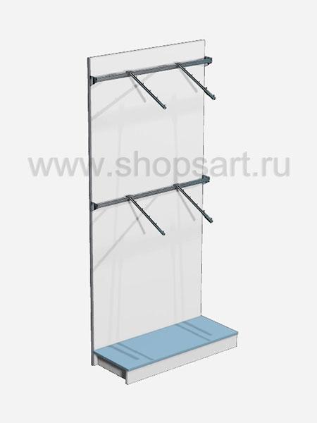 Торговое оборудование стеллаж для одежды Голубая лагуна