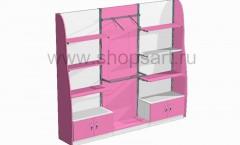 11. Блок стеллажей с декоративными боковыми стенками и распашными дверками.